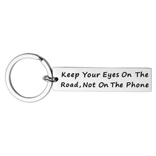 Fashion Stainless Steel Key Ring Drive Safe I Love You Keychain Gift for Boyfriend Husband Valentine Birthday Jewelry Chain