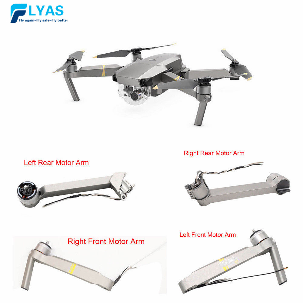 Genuine DJI Mavic pro Platinum Part   Motor Arm Front Left /Right  Rear Left / Right  Back Leg Arm for Drone Parts ReplacementDrone  Accessories Kits