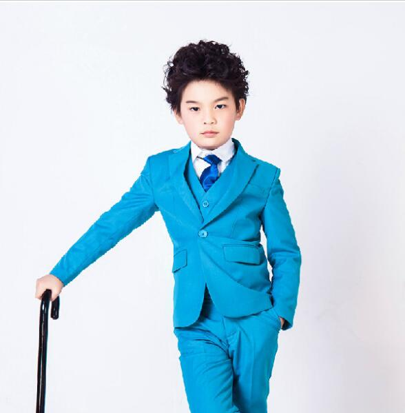Formal Party Attire Tailor Custom Made Smoking Casamento Evening Tuxedo Suit Boy Clothing (Coat+Pants+Vest+Tie+)