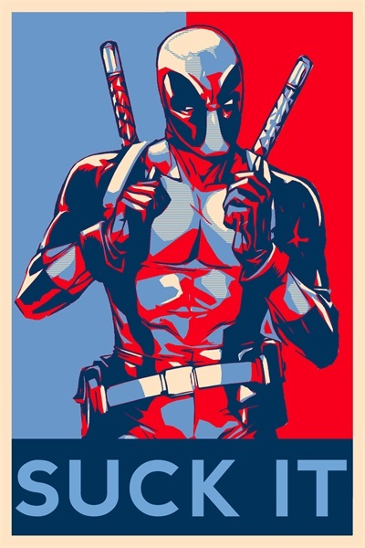 DeadPool Suck It Poster Marvel Comics