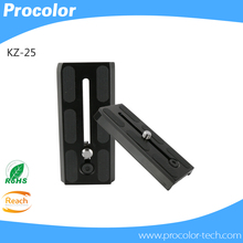 Updated version KZ-25 Up to 125 mm camera quick release plate Let your camera work more energetic