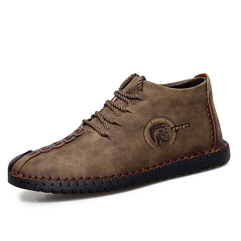 Tactical Boots Driving-Shoes Working Ankle Split-Leather Plush Lace-Up 48 No Winter Warm-Fur
