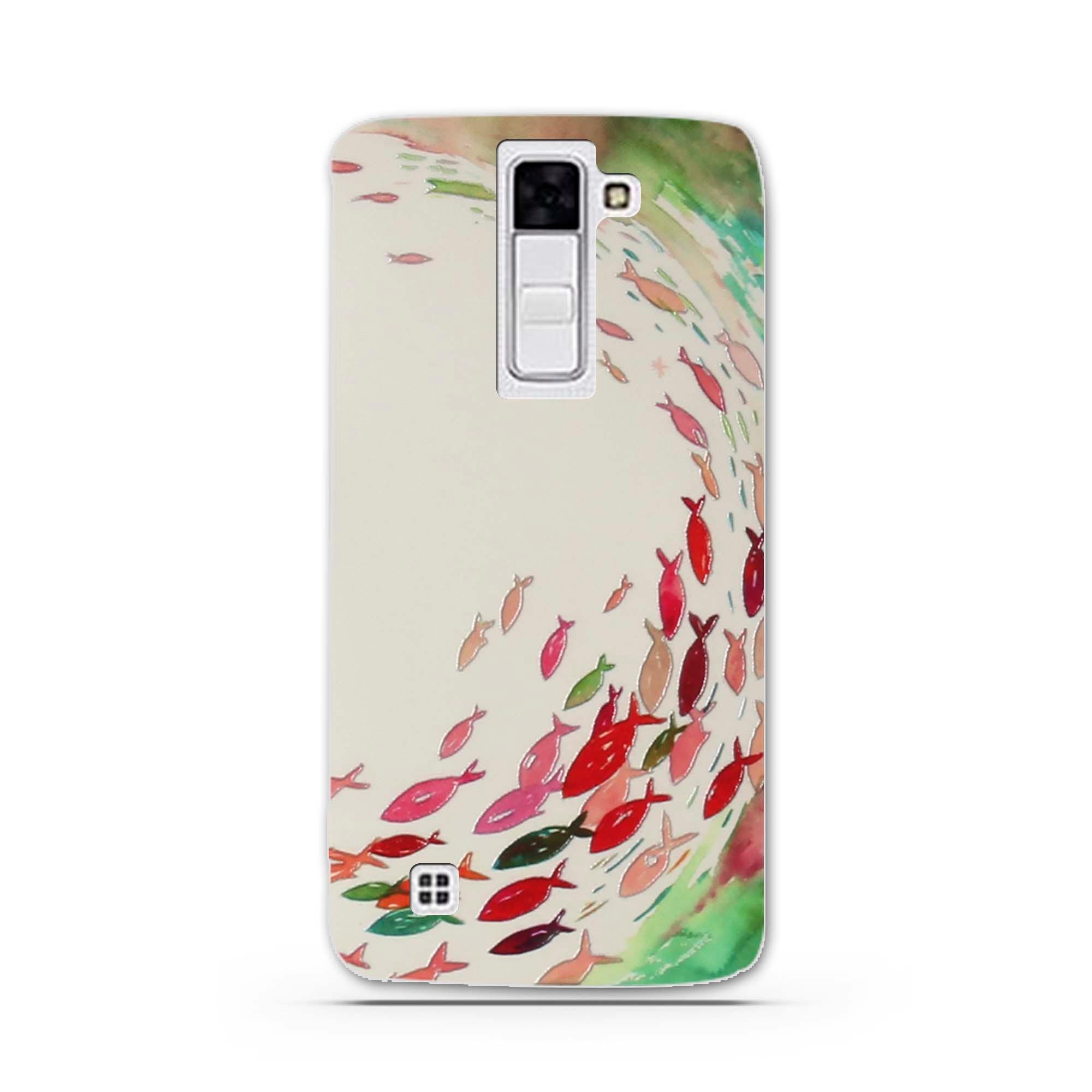 """Case Miękka TPU Luksusowe 3D Ulga Druk Pokrywy Skrzynka Dla LG K8 Lte K350 K350E K350N 5.0 """"K 8 Telefon Powrót Silicon Pokrywa Bag Sprawach 12"""
