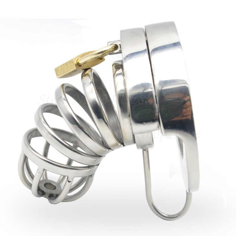 New 316L Stainless Steel Male Chastity Device,Cock Cage,Virginity Penis Lock,Cock Ring,Chastity Belt,Adult Game Sex Toys For Men