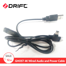 Drift Action Sport Camera Accessiores Wired Audio and Power Cable for Ghost 4k