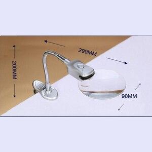 Image 2 - Accesorios de pintura de diamantes 5D, lupa con luz LED, diseño plegable, bordado de punto de cruz, accesorios de decoración para el hogar