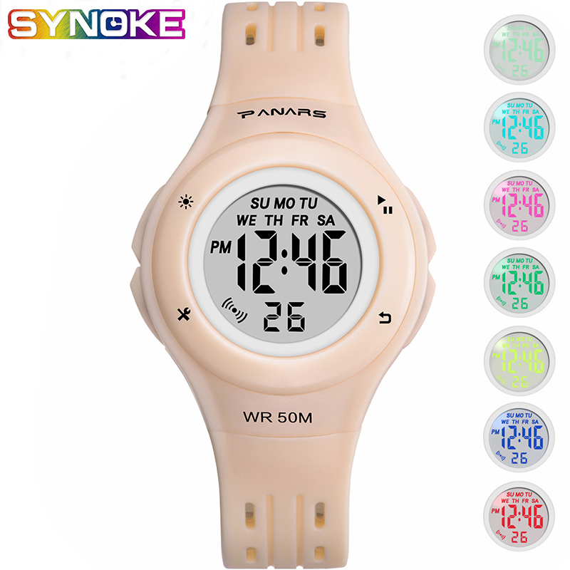 PANARS Sports Children Led Digital Watches 5Bar Waterproof Luminous Multifunctional Kid Boy Girl Wrist Watch Alarm Date Clock