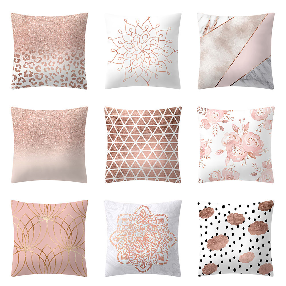 US $0.8 26% OFF|Rose Gold Pink Cushion Cover Square Pillowcase Home  Decoration For Sofa Car Seat Bedroom Cushion Cover 45x45 cm-in Cushion  Cover from ...