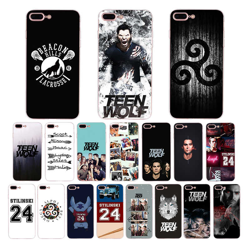 Teen wolf stilinski capa de telefone luxuosa, design exclusivo, para iphone x, xs, max, 6, 6s, 7, 7plus capa macia de concha para 8 plus 5 5S xr se