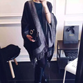 Print Luxury Brand Women Scarves Fashion Double - sided Imitation Cashmere Large Cape Shawl British Wind Pashmina Scarf