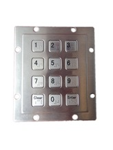 Custom USB Numeric IP65 Waterproof panel mount braille key button Metal Keypad with 12 full travel keys for indoor and outdoor