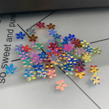 500pcs 9mm Star flower Shape PVC loose Sequins Glitter Paillettes for Nail Art manicure/sewing/wedding decoration confetti