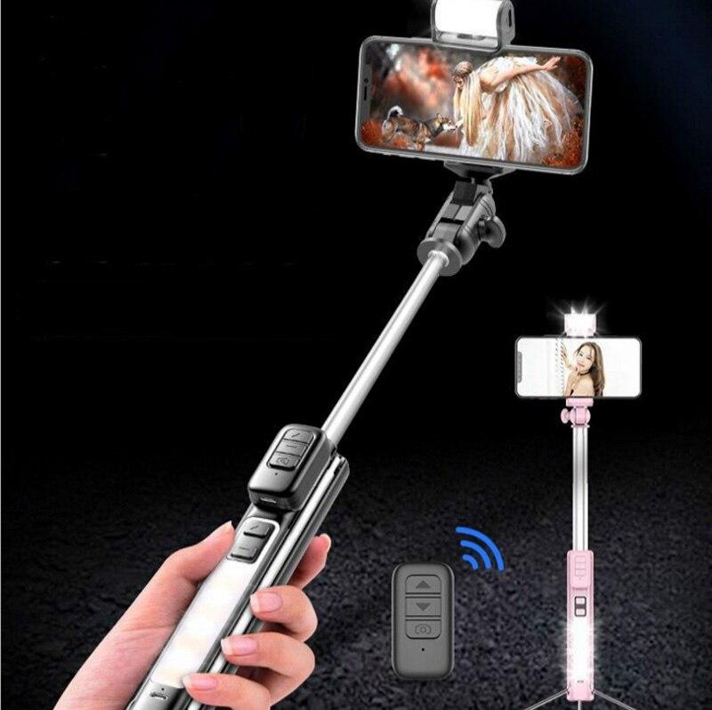 1,6 M Bluetooth selfie stick con trípode Integrado multi-Función de auto-Temporizador artefacto teléfono móvil llenar de luz en soporte Almohadilla antideslizante agarre a tierra, suelas adhesivas antideslizantes, alfombrillas para zapatos