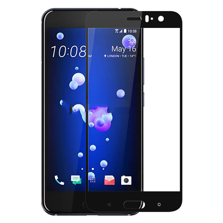2 Pcs Lot Full Cover Screen Protector For HTC U11 Full Coverage Protective Film Tempered Glass