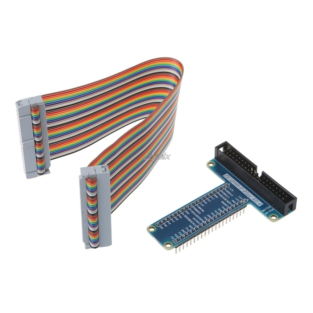 40 Pin Extension Board Adapter 40-Pin GPIO Cable For Raspberry Pi 3 2 Model B B+  Drop Ship