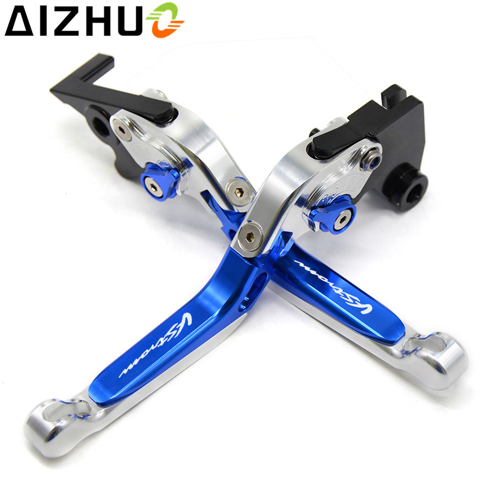 With Vstrom Motorcycle Clutch Brake Lever CNC Aluminum Extendable Adjustable For Suzuki Vstrom 650 DL650 DL 650 2011 2012 in Brake Shoe Sets from Automobiles Motorcycles