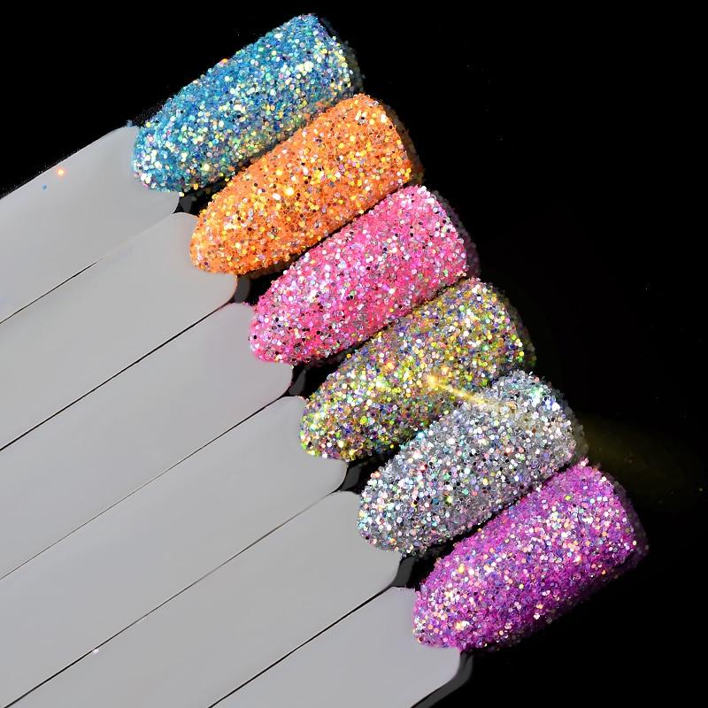 Liberal 6 Stücke Laser Nagel Glitter Dekorationen Set Shiny 3d Ultra-feine Nail Art Pailletten Pulver Diy Maniküre Nagel Zubehör Werkzeuge QualitäTswaren Schönheit & Gesundheit Nails Art & Werkzeuge