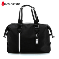 QIMIAOTIME 2018 new large capacity men's classic business travel bag Messenger bag portable Oxford waterproof casual handbag