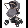 Европейский новорожденных высокое пейзаже корзина может вращаться на 360 градусов коляски sit ли складной двусторонняя подвеска