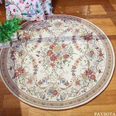 Livraison gratuite anti-dérapant Multi couleurs 80-120 cm épaissir gros tapis de sol rond pour salon salle de bains cercle tapis