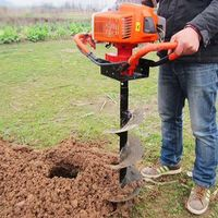 52CC Earth Auger With 10cm Drilling Head High Power Two Stroke Hole Drilling Machine For Garden Tools