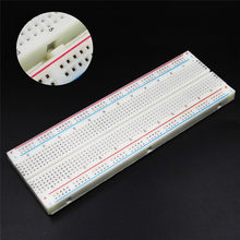 MB-102 Solderless Breadboard Protoboard 830 Tie Points 2 buses Test Circuit PCB Bread Board Test Develop DIY(China)