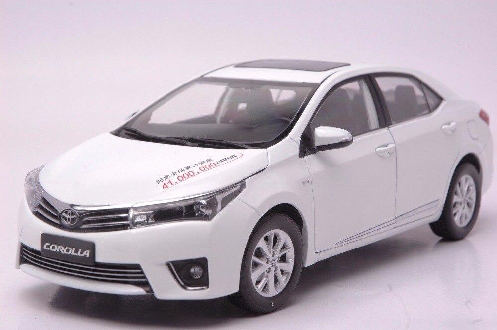 1:18 литья под давлением модель для Toyota Corolla 2014 Белый редкий сплав игрушечный автомобиль миниатюрный коллекция подарки