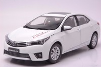 1:18 Diecast Model for Toyota Corolla 2014 White Rare Alloy Toy Car Miniature Collection Gifts