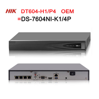 NVR DT604 H1/P4=DS 7604NI K1/4P Hikvision OEM 4CH POE 8MP 4K Record for POE Camera Security Network Video Recorder