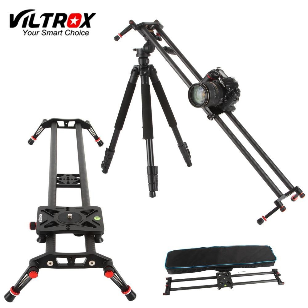 Viltrox VC-80 80cm de fibra carbono 6 rolamentos dslr câmera dv slider trilha vídeo estabilizador ferroviário dolly para vídeo dslr filmadora