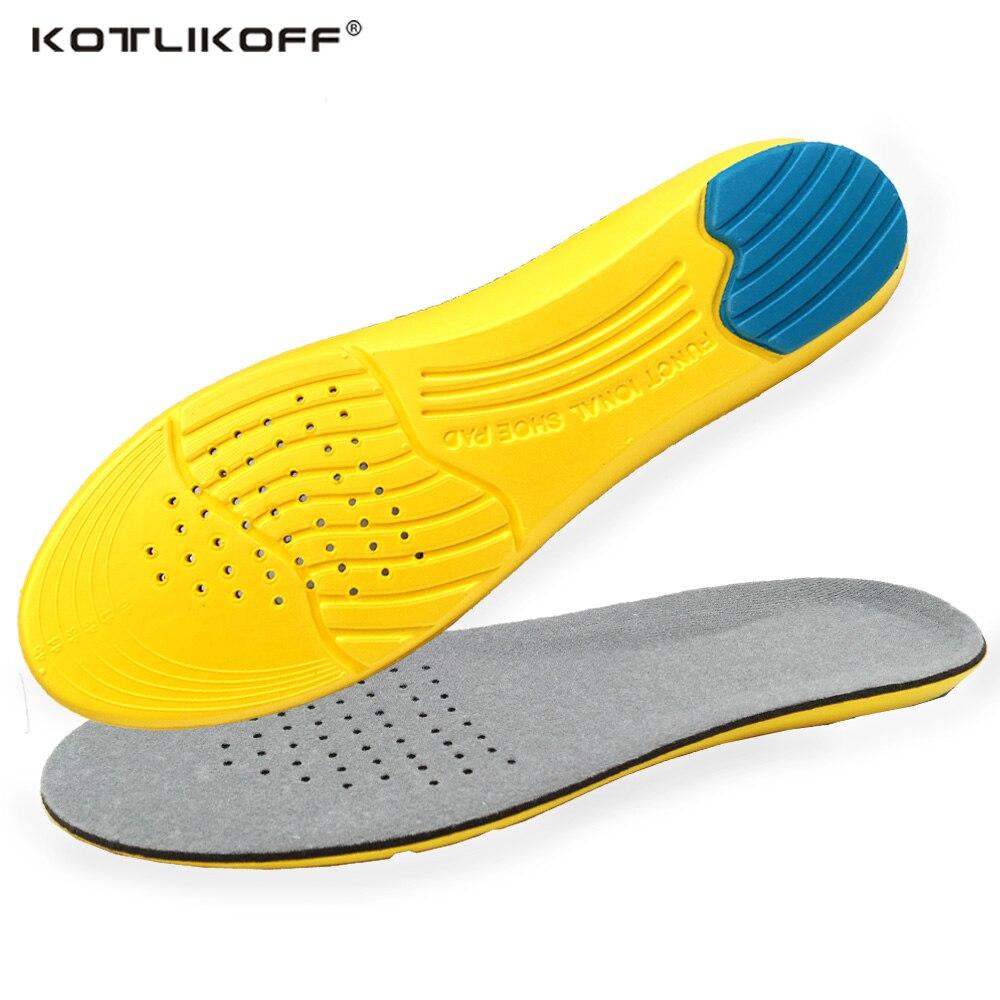 KOTLIKOFF Mémoire Mousse Semelles foot pads Absorption Des Chocs Coussin Respirant de Course Semelles pour Chaussures inserts Hommes Femmes
