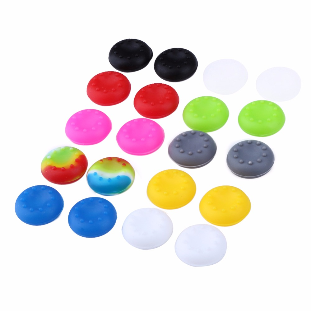 20 pcs Rubber Silicone Analog Controller Thumb Stick Grips Cap Cover for PS3 PS4 PS2 Controller for Xbox 360 One Thumbsticks Cap