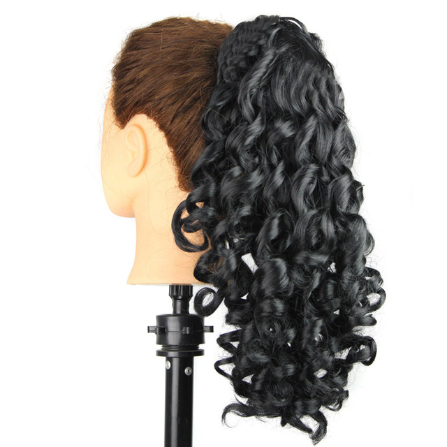 Clip-in Women Curly Tail Hair Fake Synthetic Horsetail Wig accessory Lace  Synthetic Wig Human Hair Wigs 40  8664e4b16a