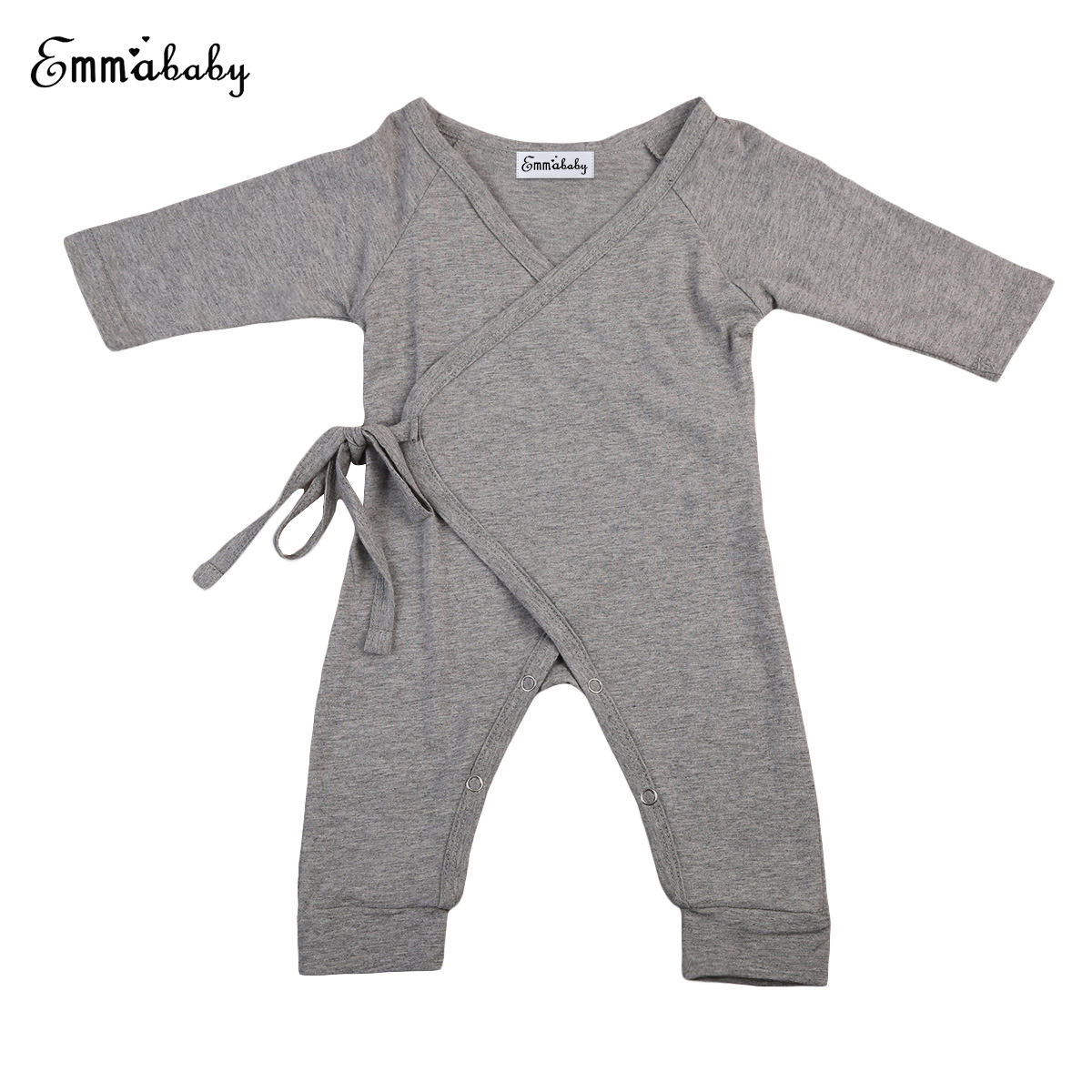 2017 Kawaii Baby Kids Clothing Boys   Rompers   Back Wings Long Sleeve   Romper   Jumpsuit Cotton Clothes Belt Outfit Set