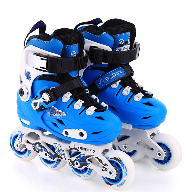 1 Pair Lovely Children Inline Ice Skate Roller Skating Shoes With Brake  Adjustable Washable  PE Aluminum Alloy Stent PU Wheels szblaze 6061 aluminum alloy tube clap long track ice speedskating blades frames 60hrc dislocation skate shoes knife 1 1mm frame