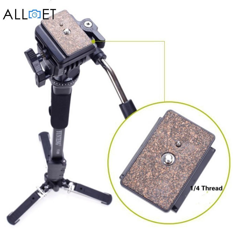 Professionnel 288 monopode et fluide tête cylindrique et DV Unipod clip de fixation de téléphone portable pour Canon Nikon DSLR caméra monopodes