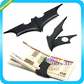 Matte Black Batman Money Clip Magnetic Folding Card Metal Holder Wallet Christmas Gift
