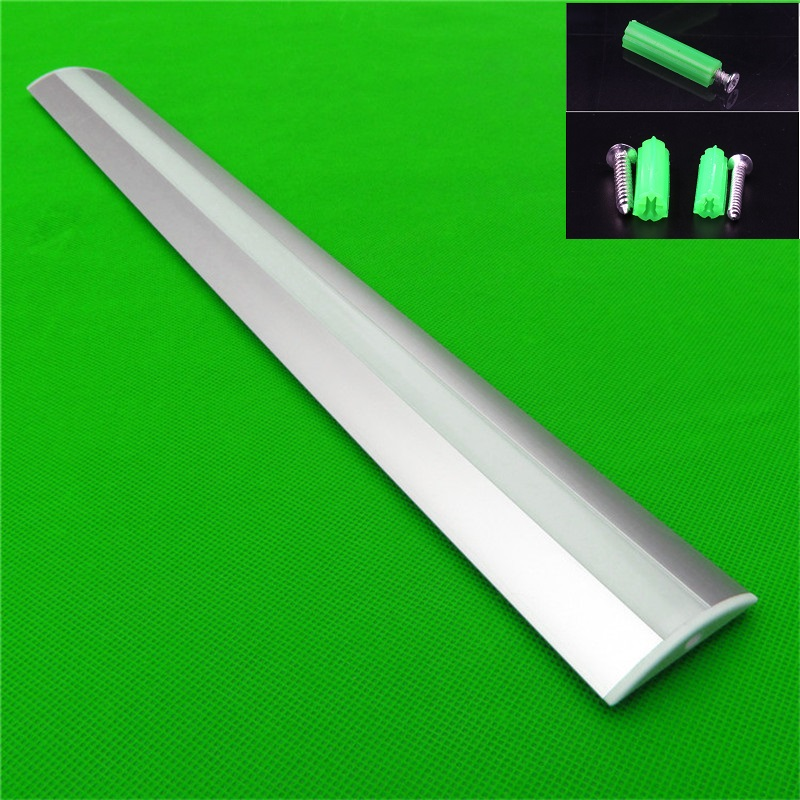 10pcs lot 1m wide edge Led aluminium profile for led strip with milky transparent cover of