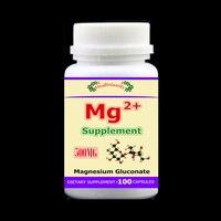 100 unids/botella mg suplemento magnesio gluconato de hueso, los músculos y los nervios salud resistencia colesterol, envío libre