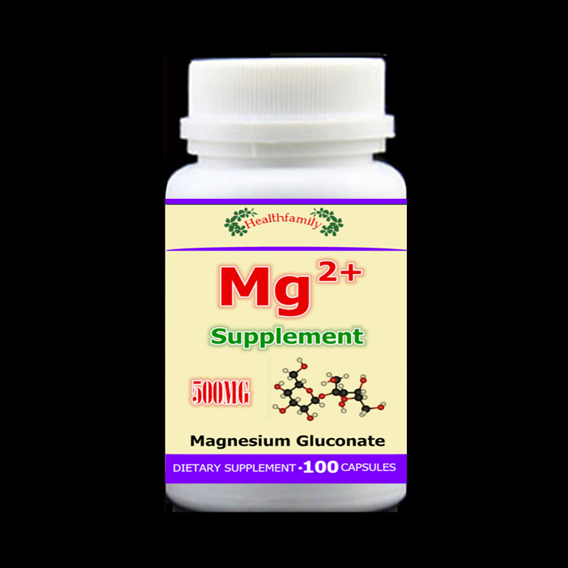 100pcs/bottle Mg supplement Magnesium gluconate for bone, muscles and nerve health Extra strength cholesterol,free shipping 6 bottles 600pcs omega 3 capsules healthy for cognition heart brain health optimal wellness immune support supplement free ship