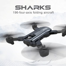 F196 Optical Flow Localization Dron Foldable Quadcopter Wi-Fi RC Drone with 2.0MP HD Camera 1100/2200mAh Battery Headless Mode