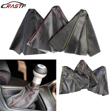 RASTP-PVC Carbon Fiber Manual Gear Shift Knob Boot Universal Automatic Car Cover RS-SFN001