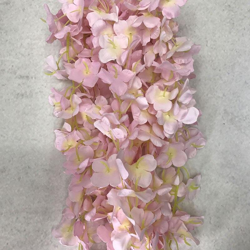 Горячая 6.56ft Свадебная поддельная Цветочная лента в полоску виноградный лист искусственная Цветочная Гирлянда цветочное украшение для дом...
