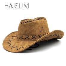 2018 Top Fashion Adulto Solido Haisum Trendy Uomini donne Protezione Solare Cappello  Da Cowboy Feltro 7c344ef1910e