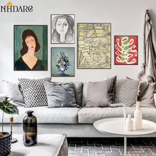 Classic Amedeo Modigliani Picasso Artwork Collection Abstract Canvas Print Painting Poster Wall Pictures Living Room Home Decor classic amedeo modigliani picasso artwork collection sketch canvas print painting poster wall pictures living room home decor