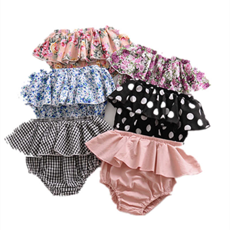 79049602a61 LILIGIRL Infant Baby Summer Clothes 2019 Kids Beach Shorts for Girls Casual Lace  Floral Triangle Shorts
