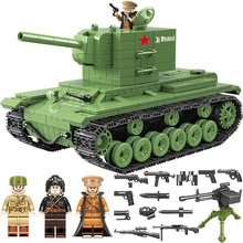 NEW 818 PCS Soviet Army kv2 Tank Military Building Blocks Soldier Weapon accessory Bricks Toys for children