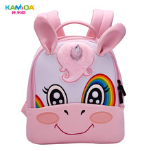 Unicorn Kindergarten Backpack 3D Embroidered Children Bag Ultra Light Offload Cute Cartoon Anime Kids Backpacks for School Girls