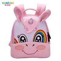 Unicorn Kindergarten Backpack 3D Embroidered Children Bag Ultra Light Offload Cute Cartoon Anime Kids Backpacks for School Girls