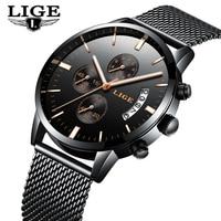 Relogio Masculino LIGE Luxury Brand Analog Sports Wristwatch Men S Quartz Watch Business Watch Men Watch